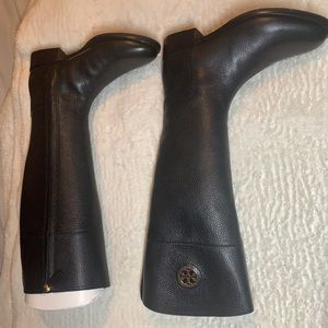 Black Tory Burch Leather Riding Boots